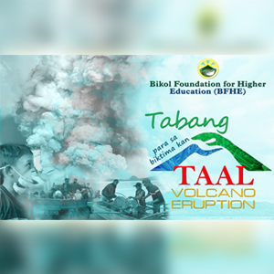 BFHE helps victims of Taal Volcano Eruption